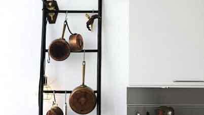 Antique kitchen tool display